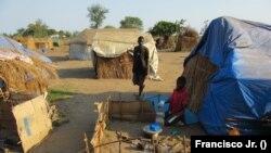 Cabo Delgado, centro de acolhimento deslocados (Metuge, Moçambique)