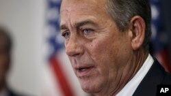 """""""Nuestro objetivo es financiar el Departamento de Seguridad Nacional. Y nuestro segundo objetivo es detener el exceso ejecutivo del presidente"""", dijo Boehner"""