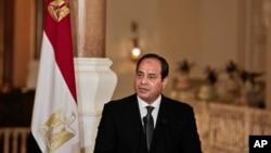Le président égyptien Abdel-Fattah el-Sissi au Caire, Egypte, le 2 mars 2017.
