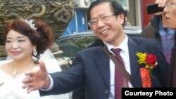 民主人士秦永敏和趙素利2013年12月8日在武漢結婚資料照。
