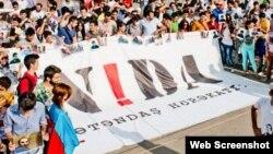 NİDA Hərəkatı (Foto NİDA-nın Facebook səhifəsindən götürülüb)