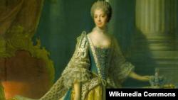 Lukisan potret penobatan Ratu Charlotte.