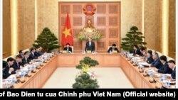 Thủ tướng Việt Nam Nguyễn Xuân Phúc họp với tổ tư vấn hôm 22/12/2018