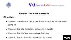 Lesson Plan - Lesson 22