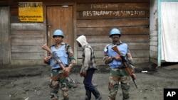 Des soldats de la Monusco à Goma, RDC, novembre 2012. Image : AP