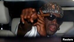 Rodman regresó el domingo de su segunda visita a Corea del Norte este año.