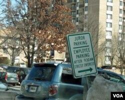 法院专为陪审团留出停车位