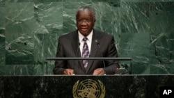Prime Minister for Barbados, Freundel J. Stuart, addresses the U.N. Sept. 25, 2015.