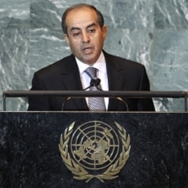 Libya's interim Prime Minister Mahmoud Jibril, chairman of the National Transitional Council, addresses the 66th United Nations General Assembly at the U.N. headquarters in New York September 24, 2011.
