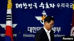 南韓國防部發言人金玟奭(資料圖片)
