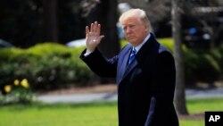 Le président Donald Trump à Washington, le 6 avril 2018.