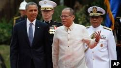 4月28日美國總統奧巴馬和菲律賓總統阿基諾三世。