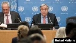 Antonio Guterres, conférence de presse, Nations Unies, New York, le 12 juillet 2018
