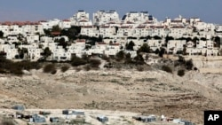 以色列在约旦河西岸兴建的定居点(2017年1月22日)。