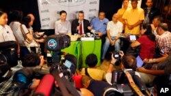 Đại sứ Hoa Kỳ tại Philippines Philip Goldberg trả lời các phóng viên trong diễn đàn truyền thông tại Quezon, đông bắc thủ đô Manila, ngày 3/2/2016.