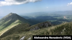 View from peak Trem on mountain Stara planina, Serbia