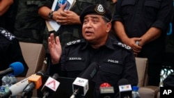 Malaysian National Police Chief Khalid Abu Bakar.