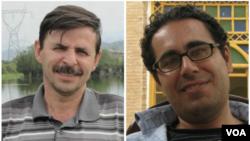 محمد حبیبی (راست) و محمود بهشتی