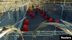 在古巴關塔納摩灣的在押人員 (資料照片)