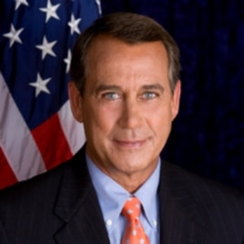 John Boehner, speaker of the US House of Representatives, is third in line to the US presidency.