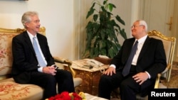 Misr vaqtli rahbari Adli Mansur, Amerika diplomati Vilyam Berns