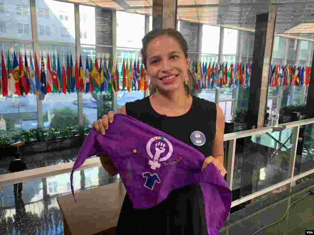 Amaya Coppens es una de las líderes del Movimiento Estudiantil del 19 de abril en Nicaragua.