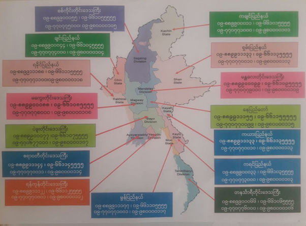 healthcare hotline numbers in Myanmar