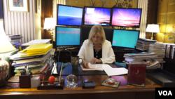 Crisis consultant Davia Temin in her New York City office, September 17, 2018.