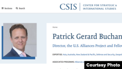 前澳大利亚国防部官员巴肯目前在CSIS任职(CSIS官网)