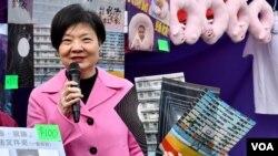 公民黨創黨黨魁余若薇呼籲港人留在香港守護核心價值。(美國之音湯惠芸)