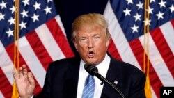 Trump akizungumza kwenye mkutano wa kampeni huko Arizona.
