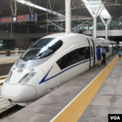 即将从北京驶往天津的和谐号