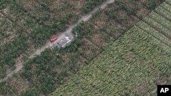 Hình chụp từ trên không cho thấy các nông trại bị thiệt hại nặng nề sau bão Haiyan.