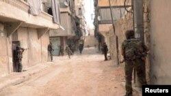 شام کی سیکیورٹی فورسز کا چھاپہ(فائل)
