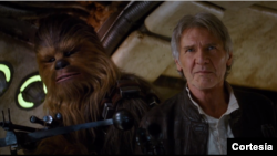 Gambar dari video trailer terbaru film 'Star Wars: The Force Awakens'