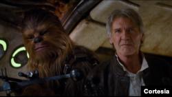 Gambar dari video trailer terbaru film 'Star Wars: The Force Awakens'