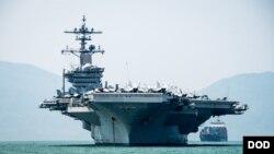 Hàng không mẫu hạm Mỹ USS Carl Vinson cập cảng Đà Nẵng hôm 5/3 và rời đi sau 5 ngày.