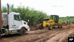 Malanje: uma estrada depois das chuvas