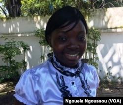 Marie Claire Nyiramahoro à Brazzaville, le 27 avril 2017. (VOA/Ngouela Ngoussou)