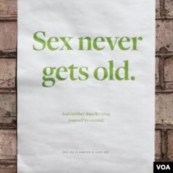 Poster kampanye lain yang menargetkan warga usia paruh baya.