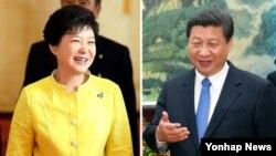 중국을 국빈 방문하는 박근혜 한국 대통령은 오는 27일 시진핑 중국 공산당 총서기 겸 국가주석(오른쪽)과 정상회담을 가진다.