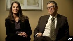 比爾與梅琳達蓋茨一月21日在紐約接受訪問。