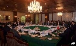 Các đại biểu đến từ Pakistan, Afghanistan, Trung Quốc và Hoa Kỳ tham dự cuộc họp về đàm phán hòa bình Afghanistan tại Islamabad