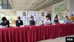 浸會大學學生會舉辦題為「談香港民主路、對抗中共政權」的六四論壇。(美國之音湯惠芸攝)