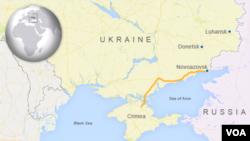 Rossiya-Ukraina chegarasi, Qrim aks etgan xarita