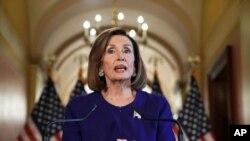 美国众议院议长、民主党人佩洛西宣布对特朗普进行正式弹劾调查(2019年9月24日)