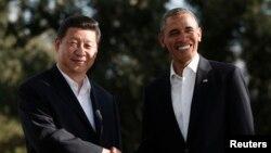 美國總統奧巴馬和中國中國國家主席習近平(資料圖片)
