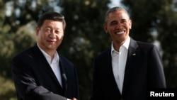 美国总统奥巴马今年6月7日在加州会晤到访的中国国家主席习近平(资料照片)