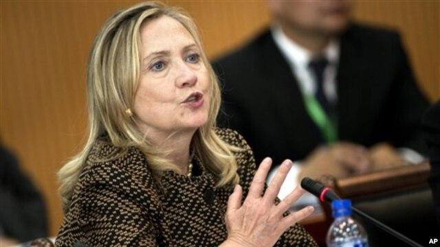 Sakatariyar Harkokin wajen Amurka Hillary Clinton.
