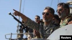 Командувач ВМС Ірану під час навчань в Ормузькій протоці
